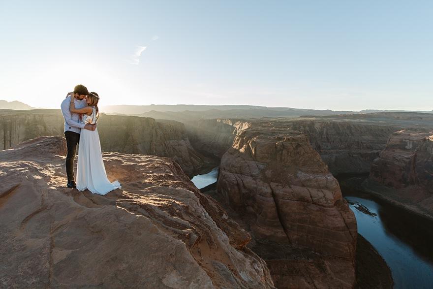 Antelope Canyon Horseshoe Bend Couple Elopement Wedding