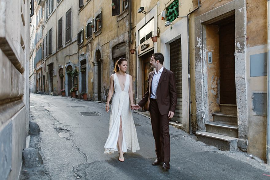 It Gives Me Gooseps Seeing Us In Our Wedding Outfits By The Pantheon Photographs Down Side Street With Sunlight Turned Out So Well We