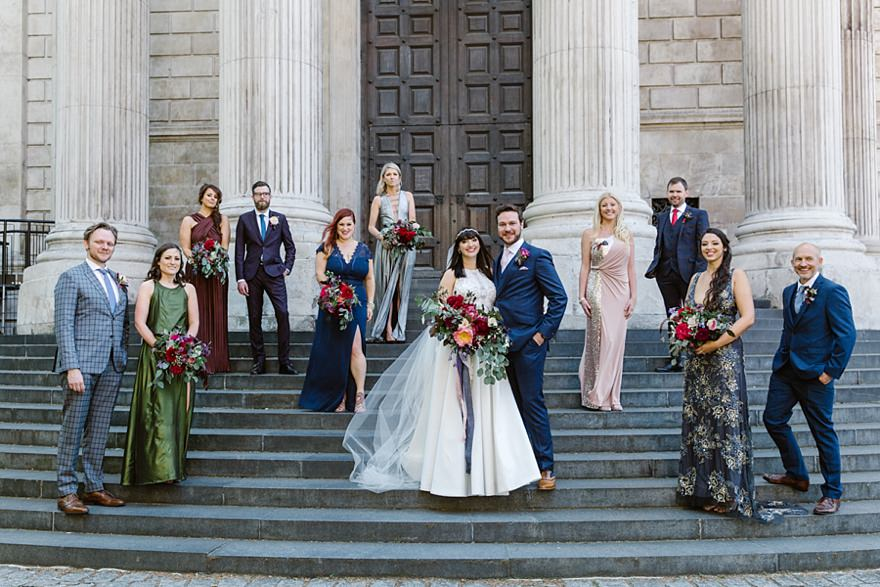 St Paul's Cathedral wedding - The Oyster Shed, London